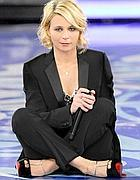 Maria De Filippi durante «Amici» (foto Red Communications)