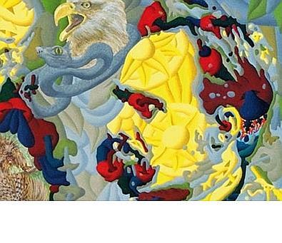 L'opera su Nietzsche è una della serie dedicata ai filosofi da Werner Horvath. Nato a Linz nel 1949, Horvath è un medico radiologo che si è dedicato alla pittura