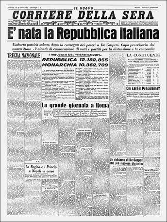 La Nascita Della Repubblica Corriereit