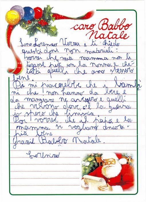 Babbo Natale Letterine.Le Letterine A Babbo Natale