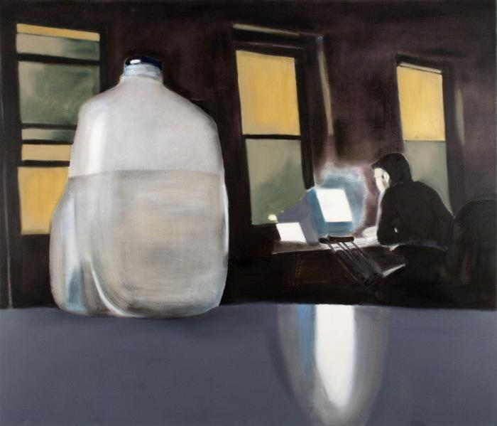 «Miltos Manetas, LOOKING AT THE COMPUTER SCREEN (Myself in Brooklyn)».