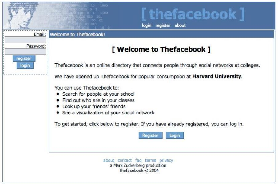 Nasce The Facebook. E' il 2004