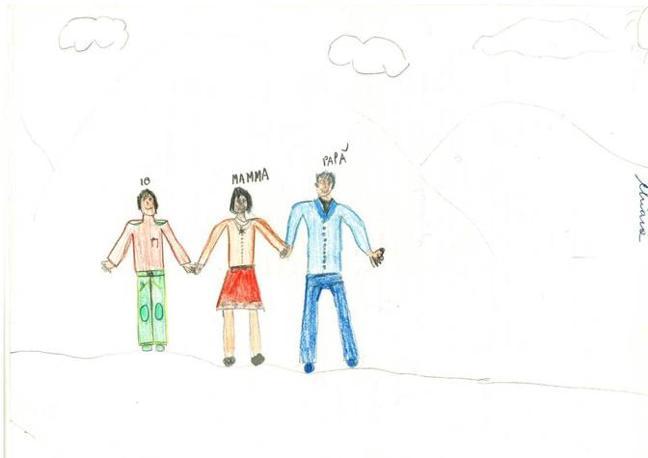 Disegno Di Bambino Che Corre : La figura paterna nei disegni dei bambini
