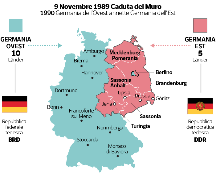 Germania Est Cartina.Germania Quanto E Costata Ai Tedeschi All Europa E All Italia La Caduta Del Muro