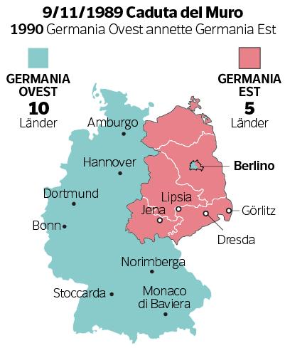 Cartina Germania Ovest.Germania Quanto E Costata Ai Tedeschi All Europa E All Italia La Caduta Del Muro Milena Gabanelli Corriere It