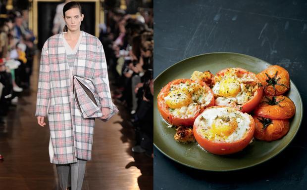 Lidia Bastianich ha preso spunto dal cappotto a  uovo in tweed di Stella McCartney