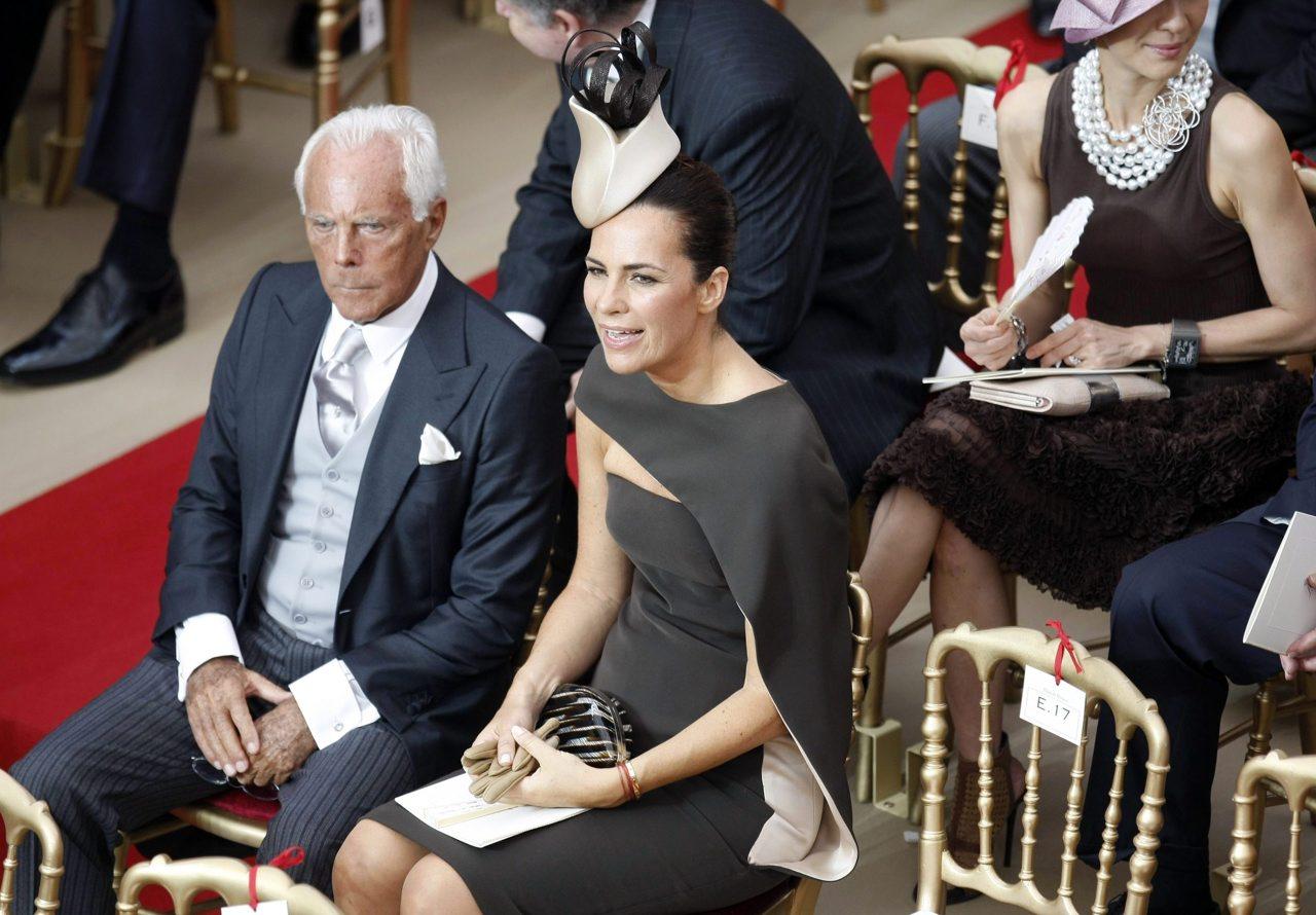 82d0c198ffdc Con la nipote Roberta al matrimonio del principe Alberto di Monaco con  Charlene nel luglio 2011