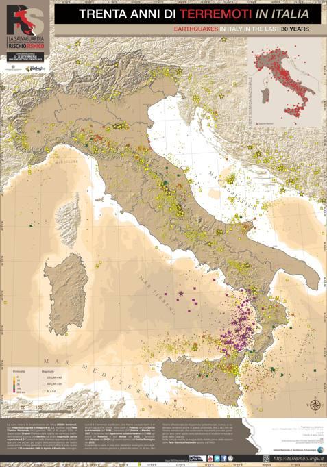 Cartina Italia Terremoti.Italia 30 Anni Di Terremoti La Mappa Dettagliata Corriere It