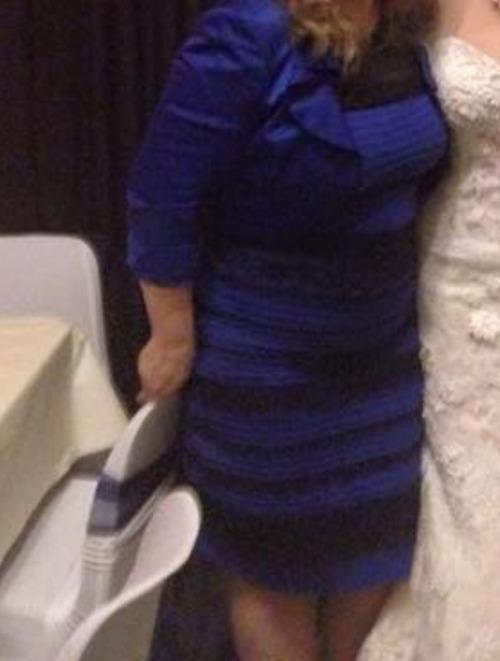 Vestito bianco oro o nero e blu
