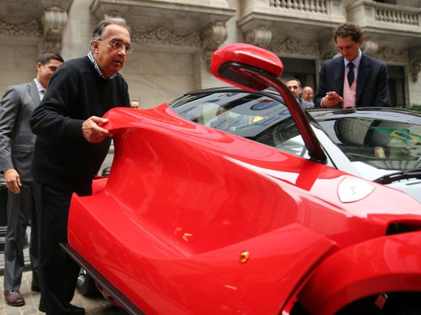 Sergio Marchionne e John Elkann a New York (Platt/Getty Images/Afp)