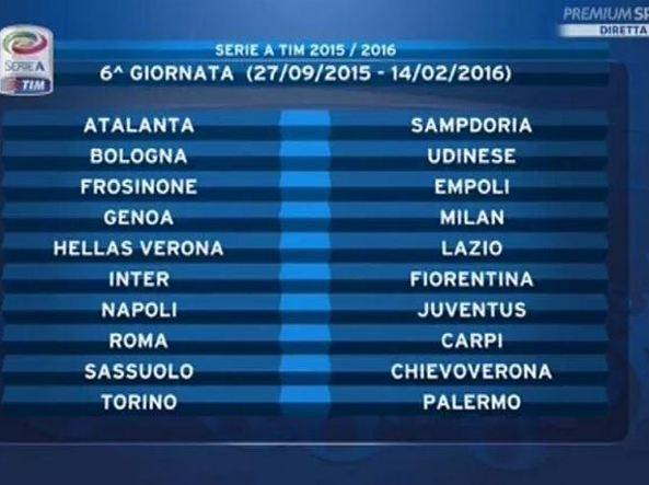 Serie A Calendario 6 Giornata.Calendario Serie A 6 Giornata Calendario 2020