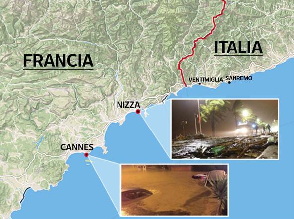 Cartina Costa Azzurra.La Mappa Dell Alluvione In Costa Azzurra Corriere It