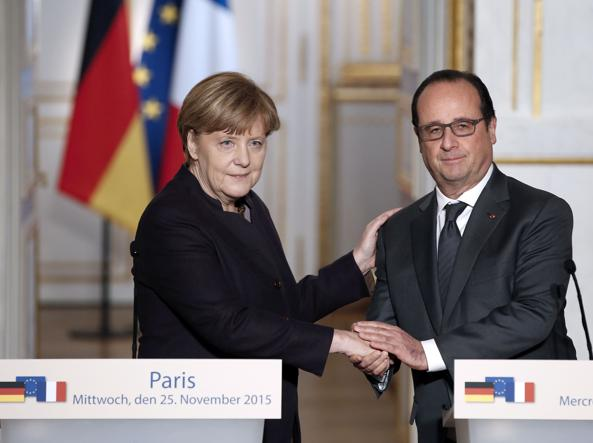 Angela Merkel e Francois Hollande (Afp)
