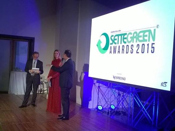 La premiazione dei Sette Green Awards 2015 (da Rcs Communication)