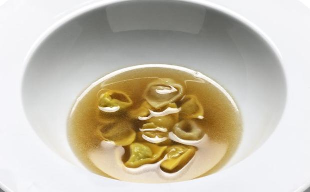 I tortellini in brodo di Massimo Bottura