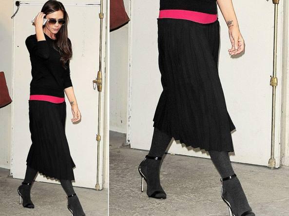 da288cb8832a4 Victoria Beckham con i collant e i sandali (Pinterest)