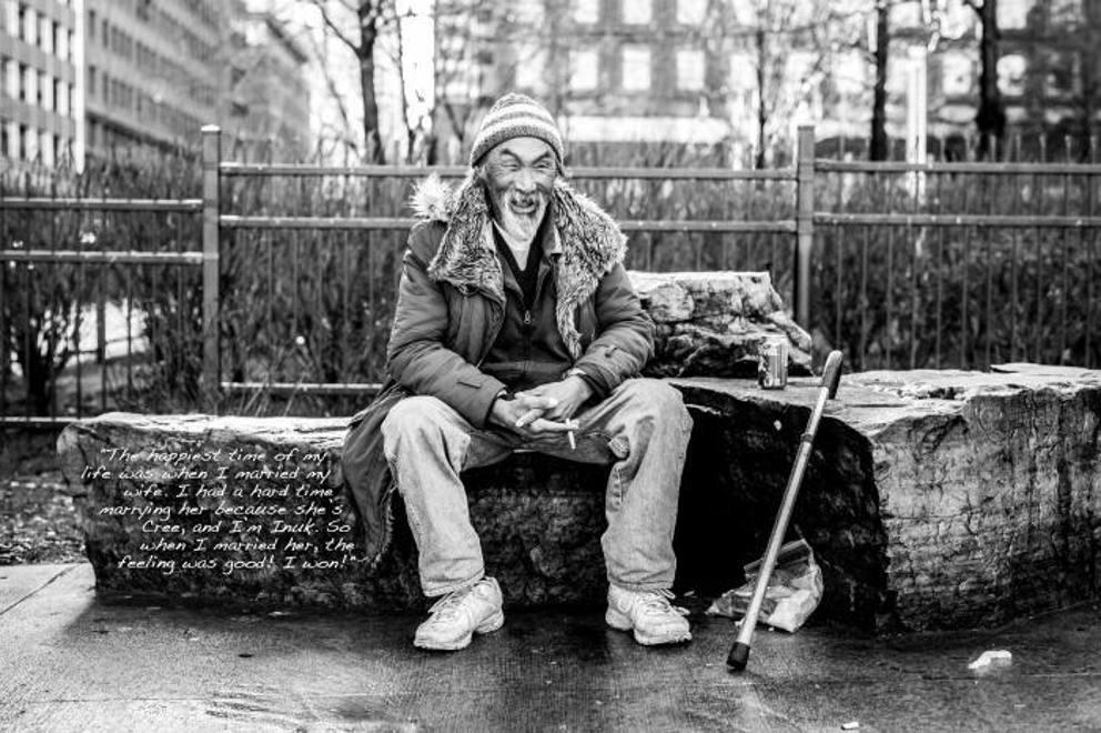 I toccanti senzatetto di montreal nel bianco e nero del for Foto hd bianco e nero