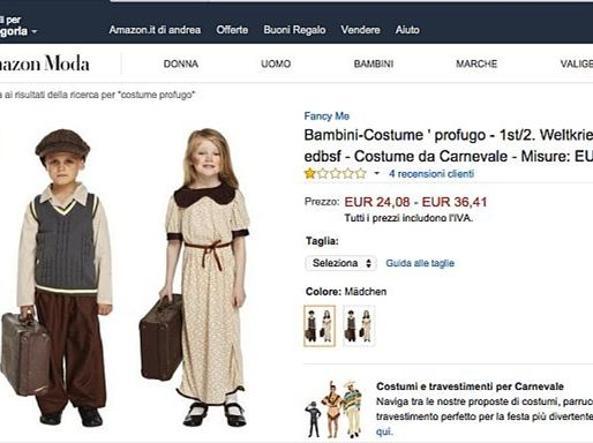 A Carnevale vestiti da piccolo profugo» Polverone su Amazon ... 8cc442e62a3