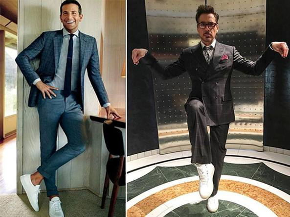 Robert Downey Jr. e gli altri  quelli chic in sneaker bianca e ... 02b1843a56a