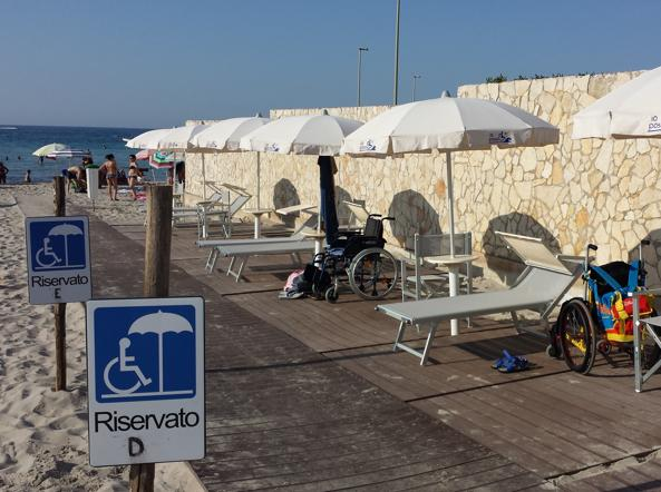 Malati di sla riapre in puglia lunica spiaggia attrezzata in