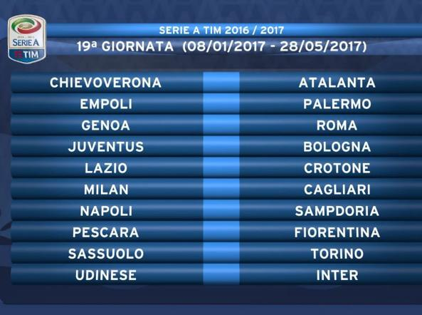 Juve Calendario Partite.Serie A Il Calendario 2016 2017 Subito Juve Fiorentina E