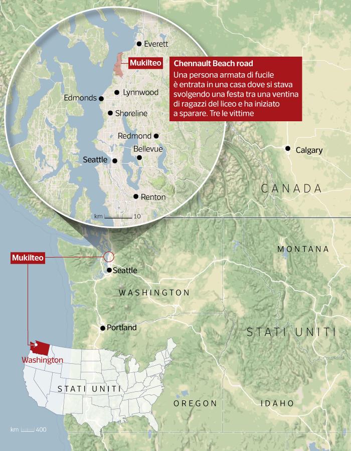 Seattle Cartina.La Mappa Di Seattle Mukilteo Corriere It