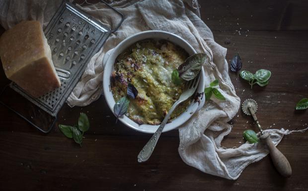 I cannelloni di ceci con ricotta e zucchine