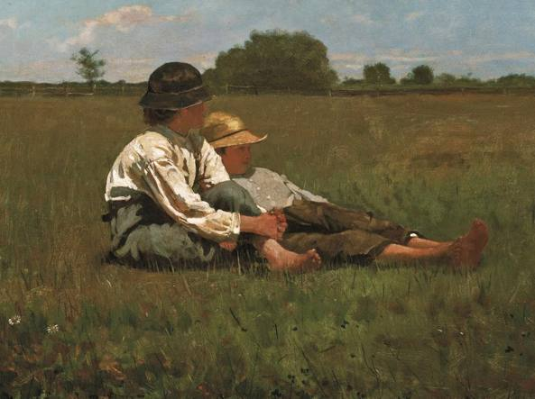 Winslow Homer, Boys in a pasture (1874, particolare)
