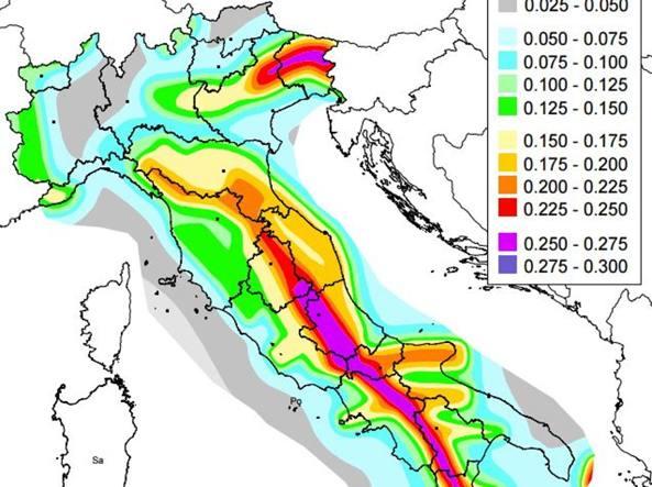 Cartina Italia Rischio Sismico.La Mappa Dell Italia A Rischio Sismico Corriere It