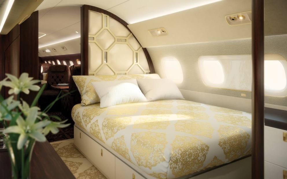 Saloni, bagni, camere da letto: il lusso estremo dei jet privati ...