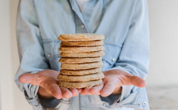 I biscotti sablé aromatizzati alla vaniglia