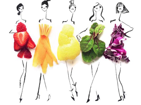 64da1d4375d3 Frutta e verdura  gli abiti «fatti» di cibo diventano virali su Instagram -  Corriere.it