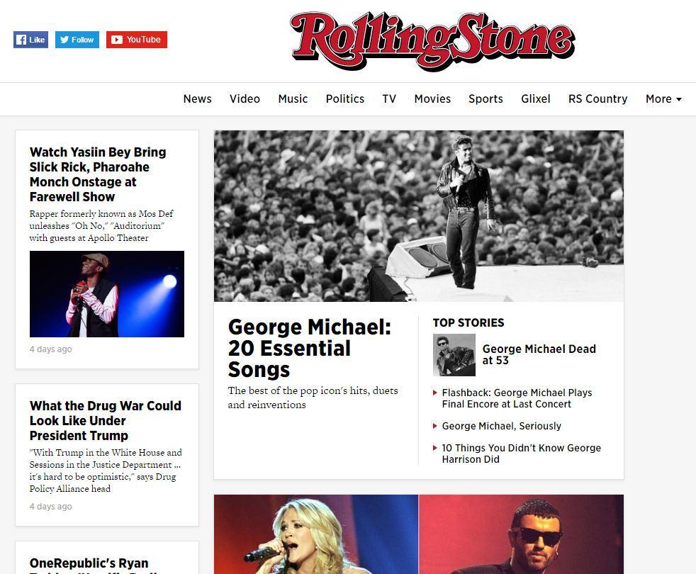 Morte di un'icona»: la scomparsa di George Michael sui siti