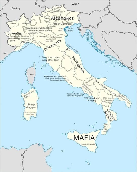 Cartina Politica Italia Zoom.L Italia La Mappa Degli Stereotipi Offensivi E Volgari Corriere It