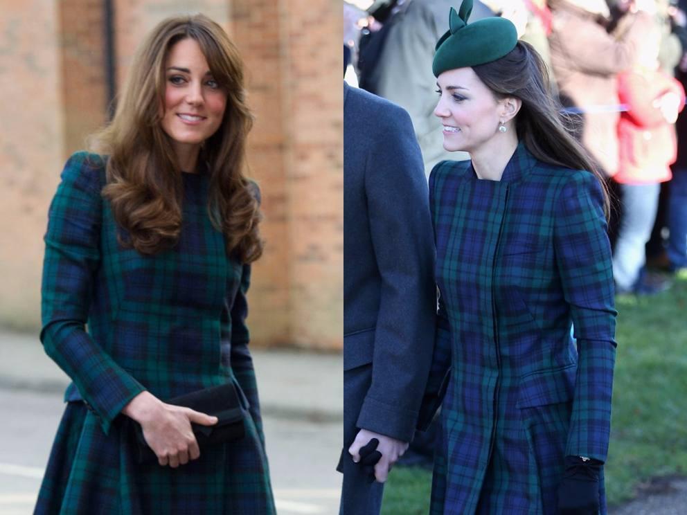 8977d9e135bf Sono tanti i vestiti riciclati da Kate Middleton. Ecco un altro esempio.  Nella prima foto la duchessa di Cambridge è fotografata durante una visita  a una ...