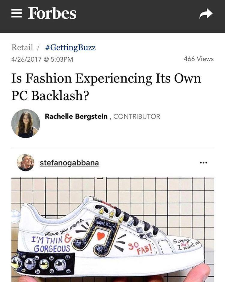 a6603c18e Sono magra e stupenda». Le sneakers di Dolce e Gabbana criticate sul ...