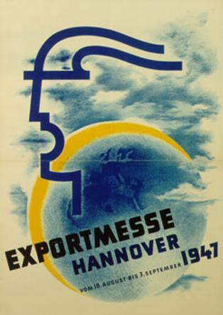 La locandina della fiera di Hannover del 1947