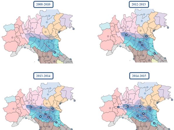 Cartina Italia Occidentale.Il Virus Del Nilo Occidentale Viaggia Lungo Il Po Ecco La Mappa Corriere It