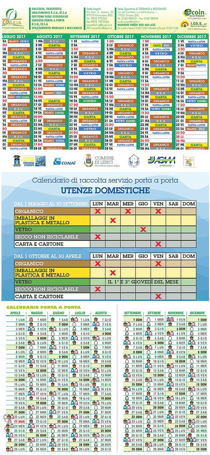 Calendario Raccolta Differenziata Napoli.Calendario Raccolta Differenziata Esempi Di Tabelle