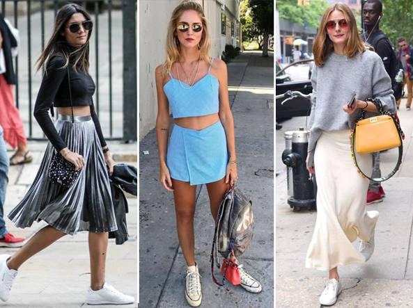 La nuova vita delle sneakers  ora si portano con la gonna - Corriere.it e99f3fe421d