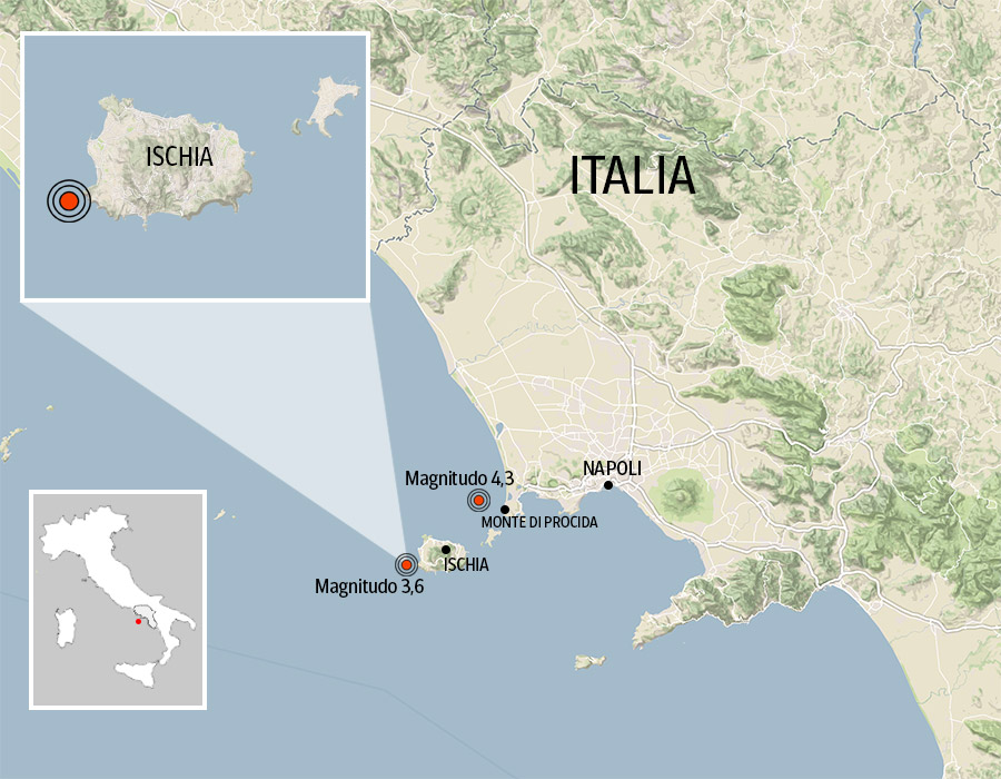 Cartina Geografica Italia 2017.Terremoto A Ischia La Mappa Dell Epicentro Corriere It