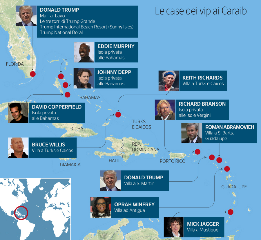 Uragano Irma Le Ville E Le Isole Private Dei Vip Ai Caraibi