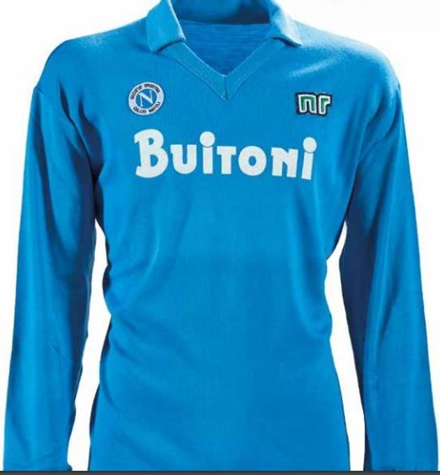85768abca Sul fronte: logo della società. Sul retro: numero 10. Maglia utilizzata  nella 15° giornata di Serie A del 22 dicembre 1985, Napoli-Avellino (1-0).