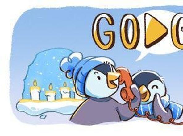 Auguri Di Natale Famiglia.Buone Feste Doodle Google Per Natale Con Una Famiglia Di Pinguini