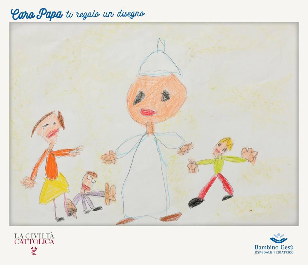 I Disegni Dei Bambini Per Il Papa Aiutano Altri Piccoli Malati