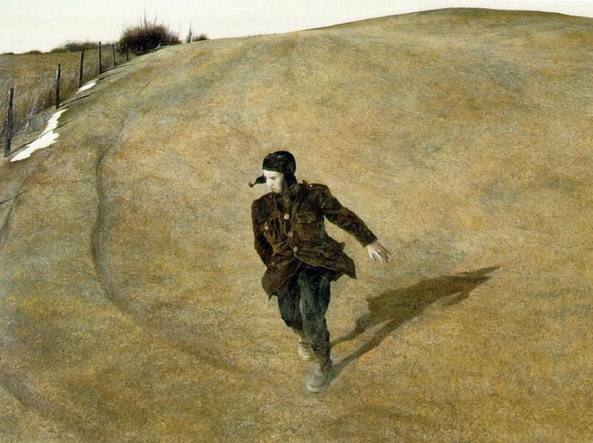 Andrew Wyeth (1917-2009), Winter (1946, particolare)