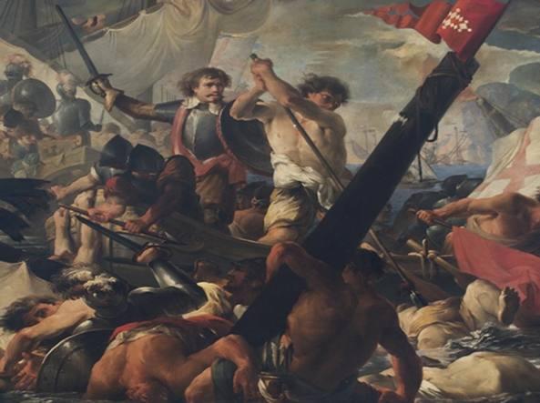 068db6e9f1 «La battaglia della Meloria», un dipinto di Giovanni David (1743-1790. «