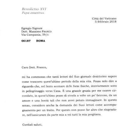Benedetto xvi e la lettera al corriere sono in for Test di italiano per carta di soggiorno esempi