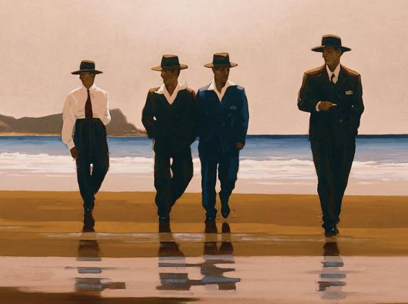 Jack Vettriano (Methil, Scozia, 1951), The Billy Boys, 1994