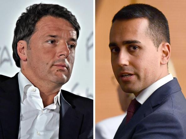 Risultati immagini per Recessione, Renzi attacca Di Maio